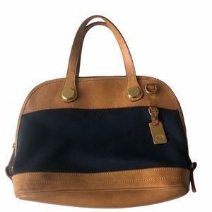 Dooney and Bourke Cabriolet Dome Satchel Bag Navy